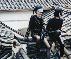 black, dark, and Futuristic Fashion image