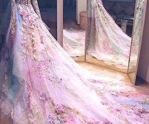 fairytale, gown, and flowers image