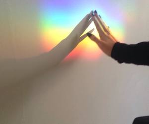 hipster, rainbow, and cool image