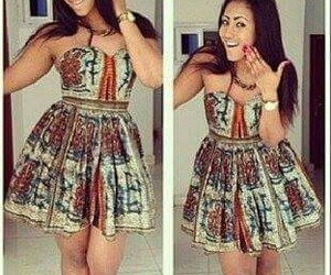 African, beautiful, and dress image