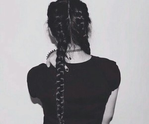 hair, braid, and grunge image