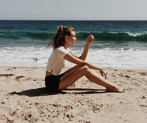 beach, fashion, and fit image