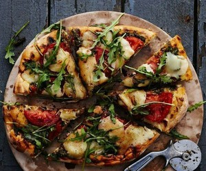 fat, food, and pizza image