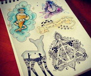 harry potter, drawing, and draw image