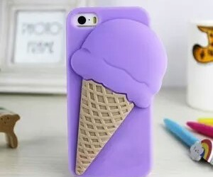 ice cream, purple, and iphone image