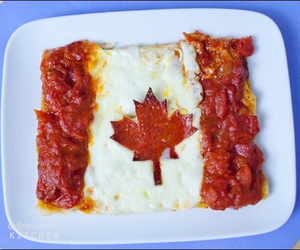 canada, flag, and decoration food image