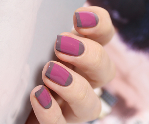 manicure, nails, and striped nails image