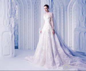wedding dress, fashion, and Couture image