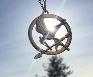 sun, katniss, and hunger games image
