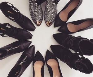 black shoes and love shoes image