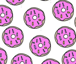 wallpaper, donuts, and pink image
