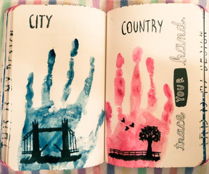 blue, city, and country image