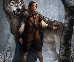 game of thrones, arya stark, and nymeria image