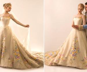 cinderella, disney, and wedding dress image