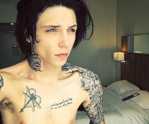bands, andy biersack, and Hot image