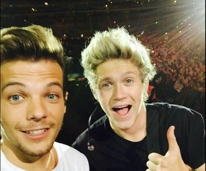 niall horan, louis tomlinson, and one direction image