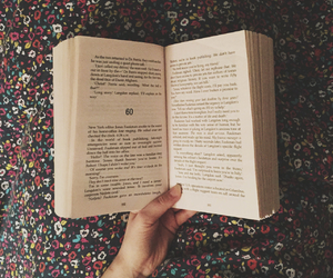 books, dark, and floral image
