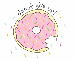 donut, food, and overlay image