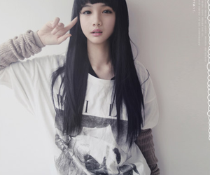 asian, asia, and black hair image