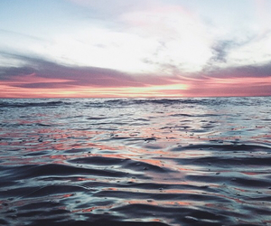 beautiful, sunset, and beach image