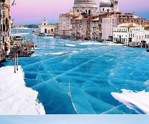 venice, winter, and ice image