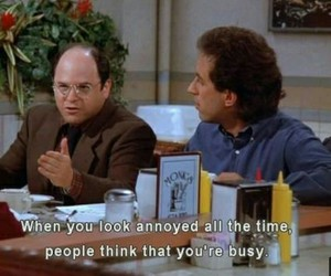 quote, seinfeld, and annoyed image