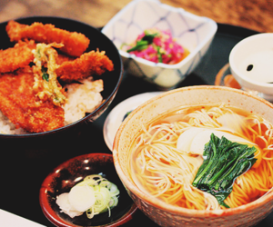food, noodles, and japanese image