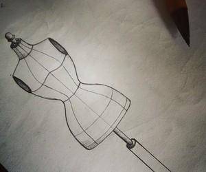 art, black&white, and design image