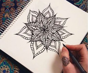 flowers, mandala, and art image