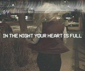 grunge, night, and heart image