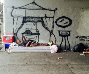 homeless and home image
