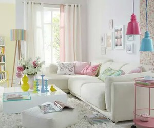 decor, living room, and pastel image