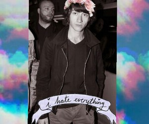 alex turner, flower crown, and i hate everything image