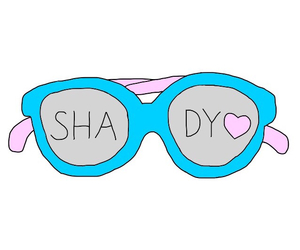 glasses, shady, and overlays image