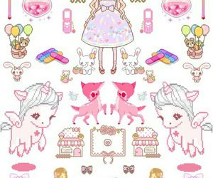 pink, cute, and wallpaper image