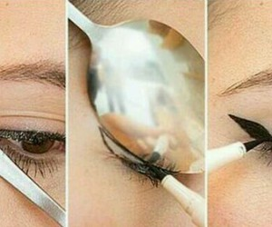 eyeliner, make up, and diy image