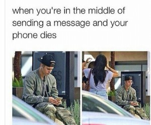 funny, justin bieber, and phone image