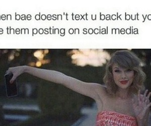 Taylor Swift, funny, and bae image