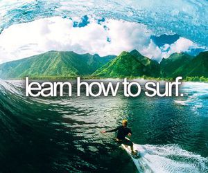 surf, before i die, and bucket list image