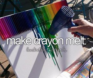 crayon, art, and melt image