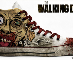 the walking dead, converse, and zombie image