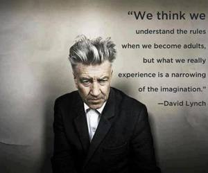 quote, david lynch, and imagination image