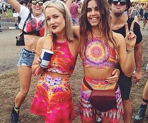 bohemian, festival, and hippie image