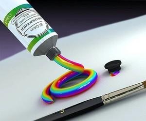 rainbow, paint, and art image