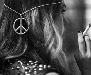 peace and hippie image