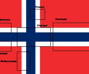 funny, flag, and norway image