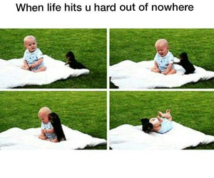 funny, baby, and life image