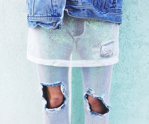 denim, mermaid, and mesh image