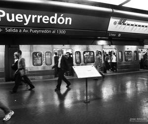 black and white, buenos aires, and subway image
