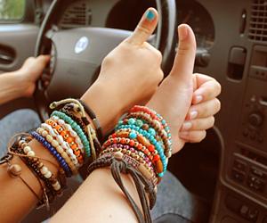 bracelet, friends, and car image